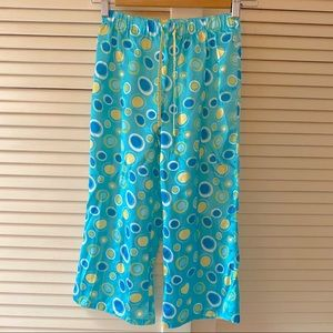 Limited Too 10 Girl's Turquoise Blue Pajamas Pants